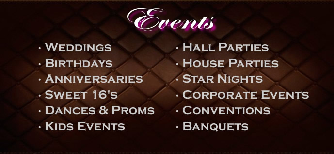 Our Events and Services